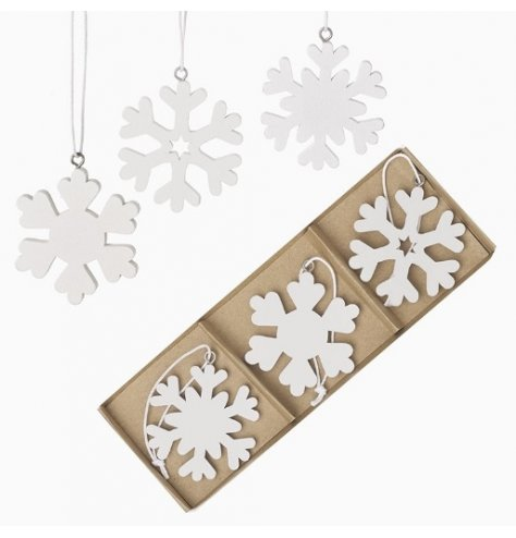 A Simple and Stylish Set of Wooden Snowflakes