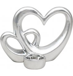 A Charming Silver Heart with T-Light
