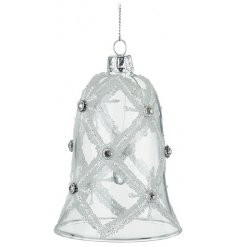 A Delicate Glass Bell with Silver Gems