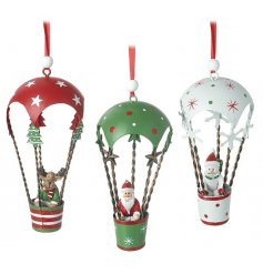 3 Assorted Christmas Themed Hanging Decoration