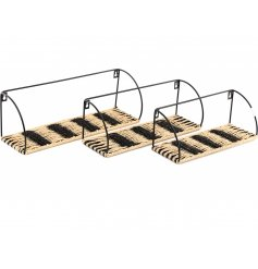 A Boho Inspired Set of 3 Shelf Units