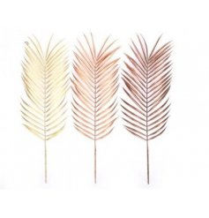 A Charming Assortment of 3 Leaf Decorations in a Metallic Finish