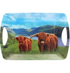 A Delightful Large Tray in a Highland Cow Design