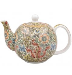 A Pretty Ceramic Tea Pot with Floral Decal