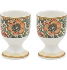 An Eye Catching Set of 2 Ceramic Egg Cups