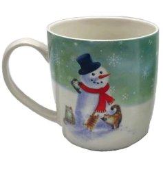 A Festive Inspired Porcelain Mug