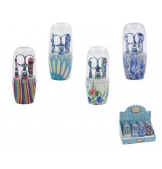 A mix of pretty decorated manicure sets, filled with all the essential tools for a good pamper