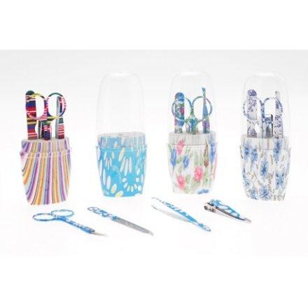 Decorated Manicure Sets Tube 12pcs CDU