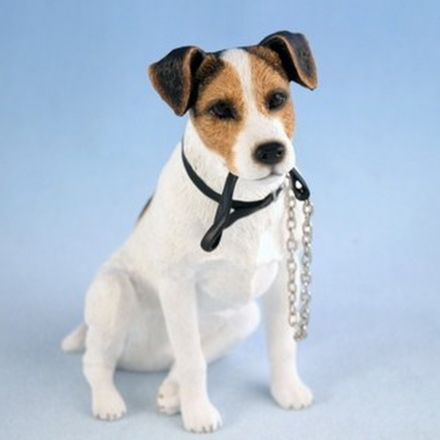 Jack Russell Sitting With Lead