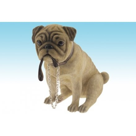Walkies Pug Dog Figurine