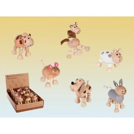 Wooden Flexi Farm Animals 6a (12) display